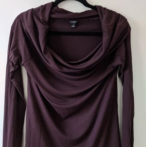 Ann Taylor M chocolate brown cowl top
